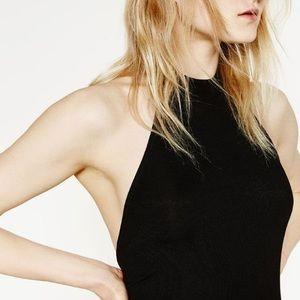 Zara Halter Backless Bodysuit